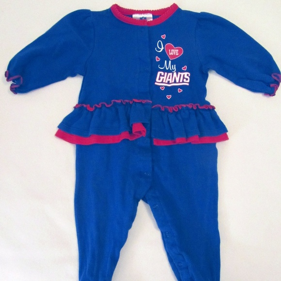 wholesale dealer 38c4d e20d7 NY Giants Sleeper Pajamas 6-9m